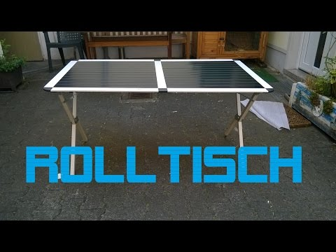 Rolltisch für den Wohnwagen