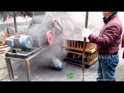 60x40 two motors crusher testing video