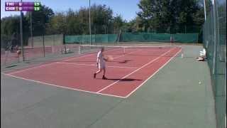 preview picture of video 'Christophe (15) vs Thibault (15/2) - 1er tour Saint Cyr - Extrait - 08/09/2012'