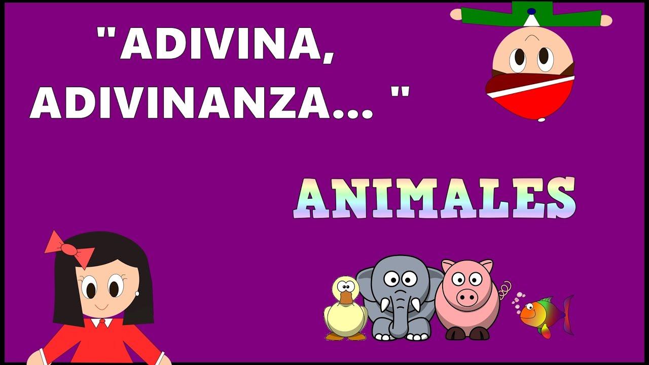 Adivina Adivinanza - Animales - Vídeos educativos para Niñosy Bebés - Paty y Poty