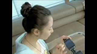 Оригинальная девушка показала свой талант и  возможности  iPhone