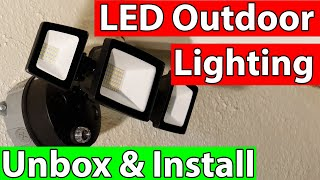 LED Security Lights Unboxing and Install | Onforu