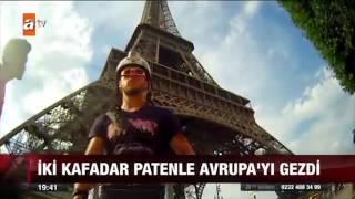 ATV Ana Haber Bülteni - Bora Güngör Röportaj (Paten İle Avrupa Turu)