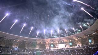 preview picture of video 'عرض للألعاب النارية في افتتاح مدينة الملك عبدالله بن عبدالعزيز  الجوهرة المشعة '