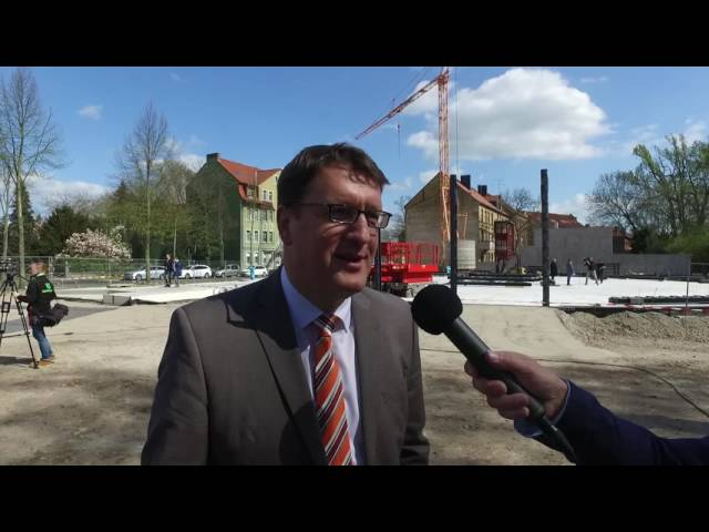 Grundsteinlegung, Interview mit Oberbürgermeister Torsten Zugehör