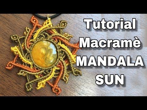 Tutorial Macramè Mandala Sun Cabochon