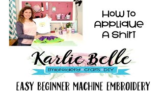 Easy Beginner Machine Embroidery: How To Applique