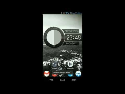 Video of Dark Card Clock - UCCW Skin