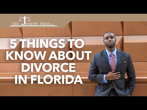 5 Things to Know About Divorce in Florida