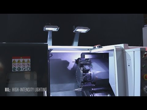 High-Intensity-Lighting for Lathes - Haas Automation Option Spotlight