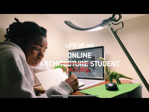 ONLINE ARCHITECTURE STUDENT VLOG | FIRST SEMESTER PROJECT
