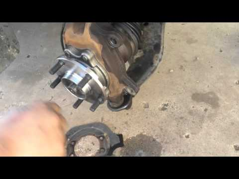 2004-2009 Nissan quest front wheel bearing replacement