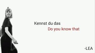 Kennst du das, LEA - Learn German With Music, English Lyrics