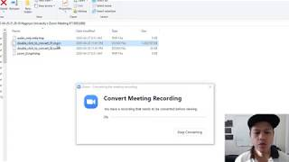 Zoom Recording Not Converting - How To Convert Zoom Meeting Into Video