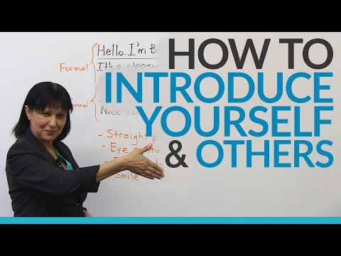 How to introduce yourself & other people