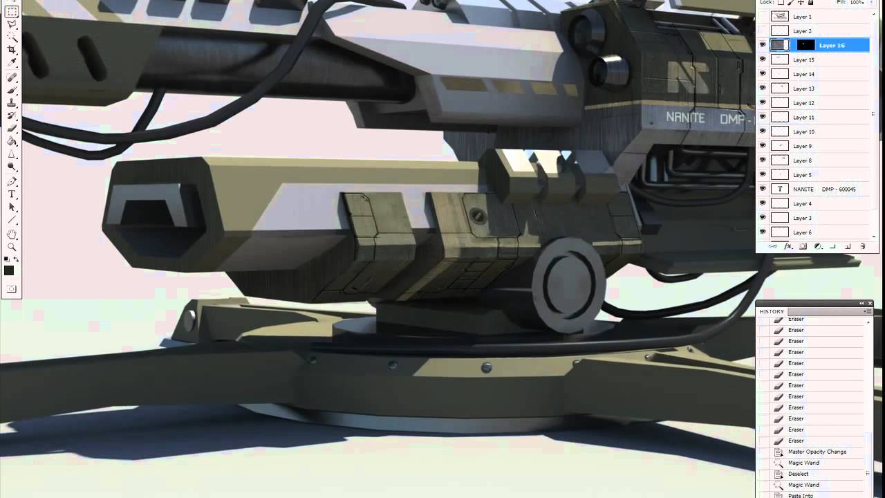 Watch Planetside 2's Sky Lance Sketched, Modelled And Textured From Scratch