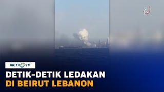 Sebuah ledakan besar mengguncang Beirut, Lebanon, Selasa (4/8/2020). Ledakan yang terjadi di ibu kota Lebanon ini mengakibatkan puluhan orang meninggal dunia dan ribuan orang luka-luka.