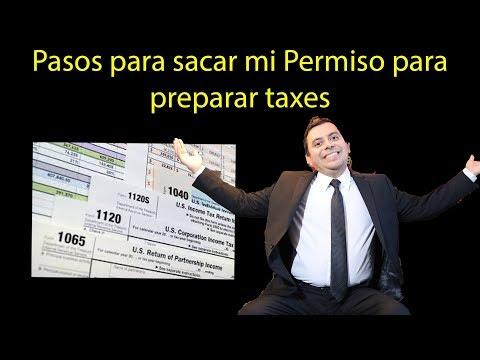 Pasos para sacar mi Permiso para preparar taxes