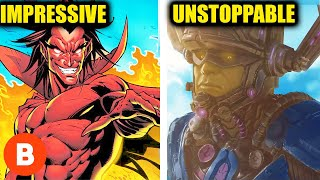 10 Marvel Villains Who Are Stronger Than Thanos Ranked From Impressive To Unstoppable