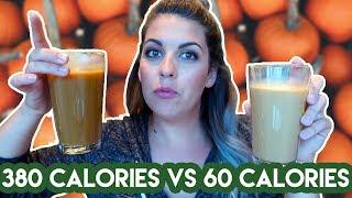 380 Calorie Pumpkin Spice Latte Vs. 60 Calorie PSL (Hot & Iced!)