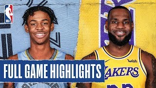 GRIZZLIES at LAKERS | FULL GAME HIGHLIGHTS | February 21, 2020