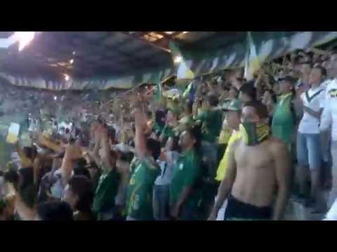 """Soy Del Quindio!   ((D.Quindio Vs Bucaramanga)) 2014"" Barra: Artillería Verde Sur • Club: Deportes Quindío"