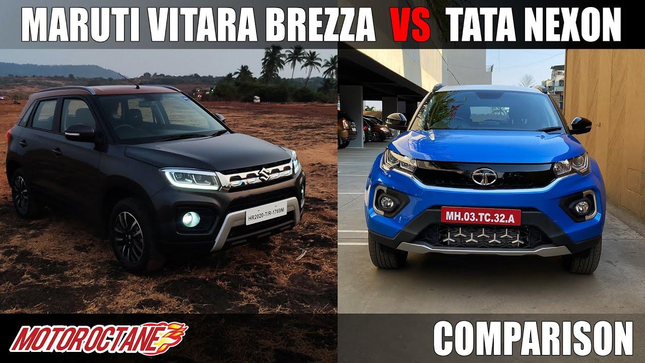 Motoroctane Youtube Video - Maruti Vitara Brezza BS6 vs Tata Nexon Comparison | Hindi | MotorOctane