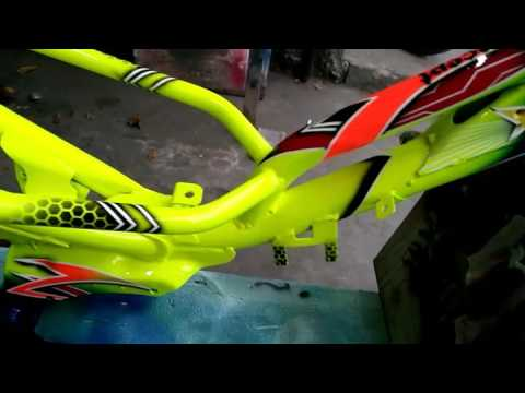 Video frame rangka Force one grasstrack trail motocross