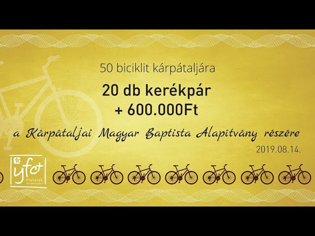 50 bicikli Kárpátaljára