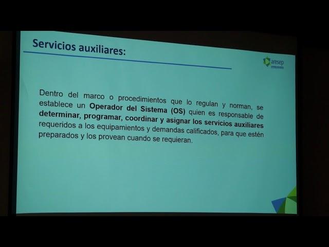 ARESEP explica propuesta de reglamentos para servicios auxiliares en electr ..