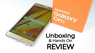 Samsung GALAXY On7 Unboxing & Hands On Review! Value For Money?