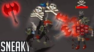 Rev Caves Dragon Throwing AXE! Insta Kills (OSRS)