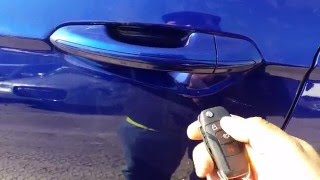 How to unlock a 2016 ford fusion using the key with a dead battery