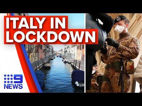 breaking news italy extends coronavirus lockdown nationally nine news australia