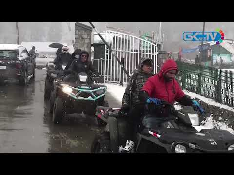 Season's First Snowfall Drapes Gulmarg White
