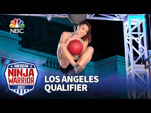 Zhanique Lovett at the Los Angeles Qualifiers - American Ninja Warrior 2017