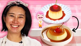 Rie Tries to Recreate The Pudding Recipe From Cooking Mama • Tasty