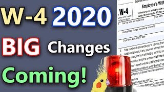 Major W-4 Changes Coming! (W-4 2020 Explained & Privacy Concerns)  (W-4 Tax Form 2020)