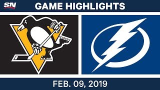 NHL Highlights | Penguins vs. Lightning - Feb 9, 2019