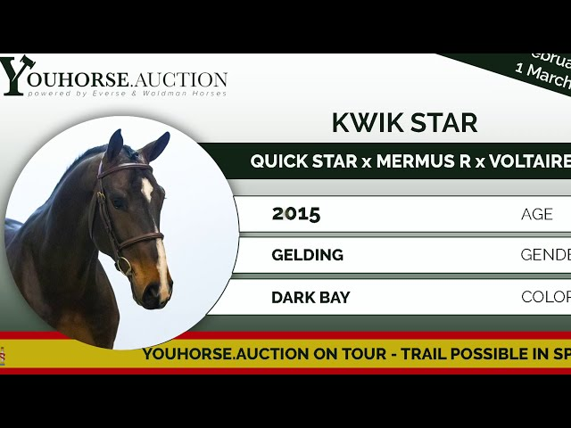 Kwik Star showing 6 years old class