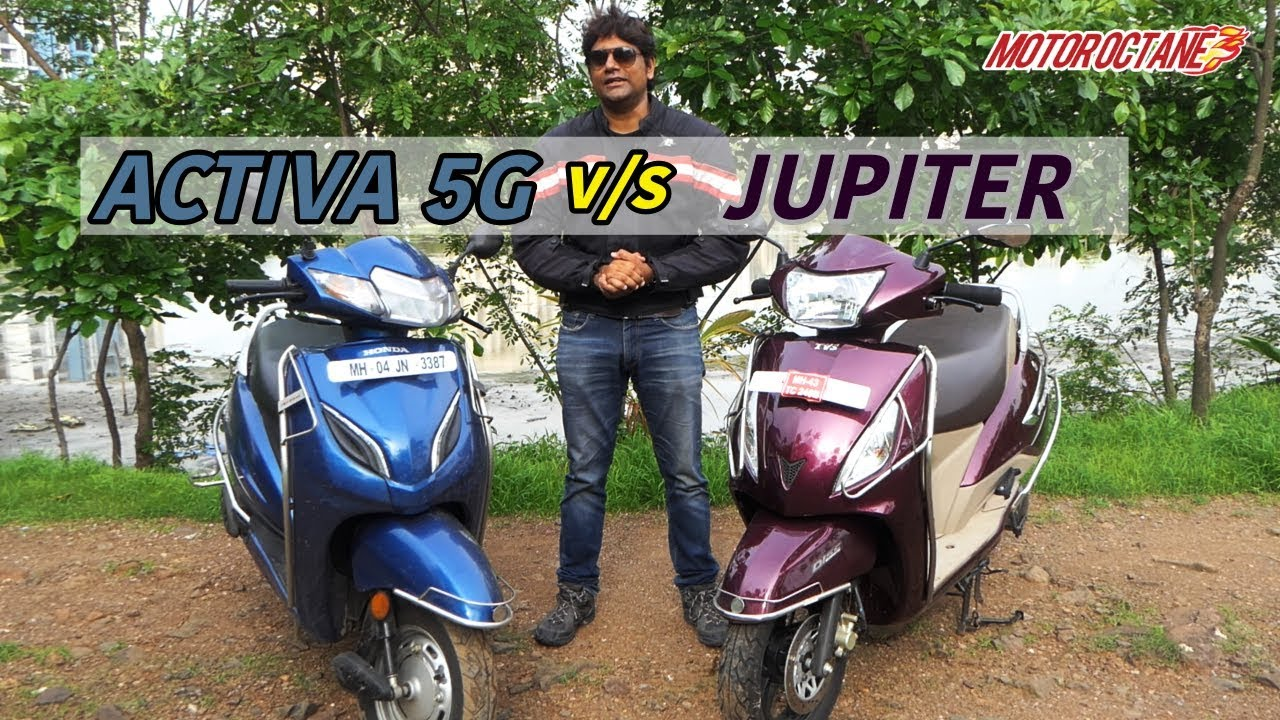 Motoroctane Youtube Video - Honda Activa 5G vs TVS Jupiter 2018 comparison in Hindi | MotorOctane