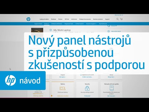 Podpora HP vám přináší nový panel nástrojů s přizpůsobenou zkušeností s podporou