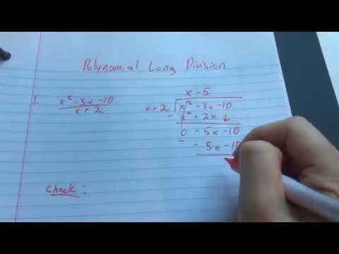 Quick intro to dividing with Polynomials.