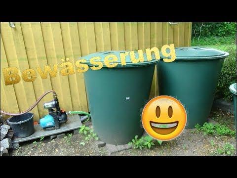 Regentonnen und Bewässerung im HobbyGarten 🌧😁