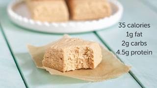 35-calorie Peanut Butter Fudge (sugar Free, Low Carb, Keto, High Protein)