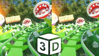 🔴 Mario VR 3D Roller Coaster VR Split Screen for BOX 3D not 360 VR Virtual Reality 3D SBS