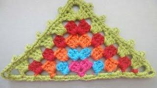 """Бабушкин треугольник """"Grandmother"""" triangle Crochet"""