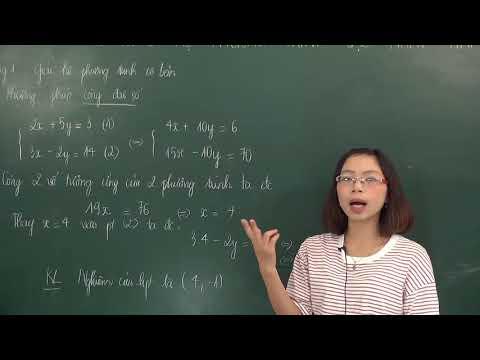 Phương pháp cộng đại số giải hệ phương trình - Đại số 9