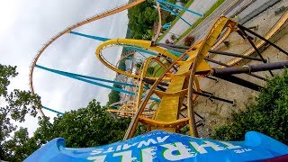 Riding A Stand Up Roller Coaster! Georgia Scorcher at Six Flags Over Georgia! Front Seat POV 4K