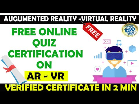 Augmented Reality & Virtual Reality Free Online Quiz with ISO ...